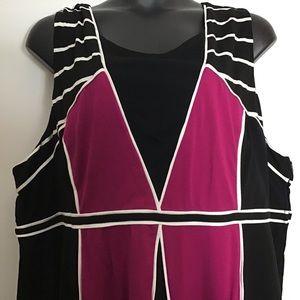 NWT Torrid Empire Size6 Deco Pink Black dress